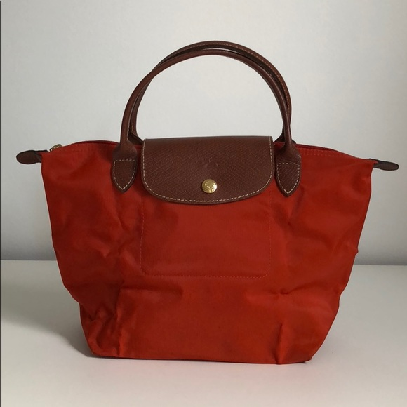 087dc38b927 Longchamp Bags | Le Pliage Tote Bag Small Orange | Poshmark